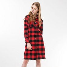 Dioufond Women Long Shirts Long Sleeve Shirts Chemise Femme Manche Longue Plaid Shirt Dress Women Tops Camisetas Largas Mujeres