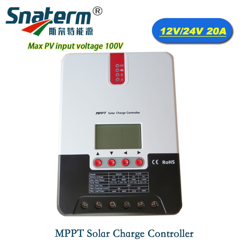 Hot selling 20A 12V24V Auto MPPT Solar Charge controller with LCD display Solar charger Regulator Max