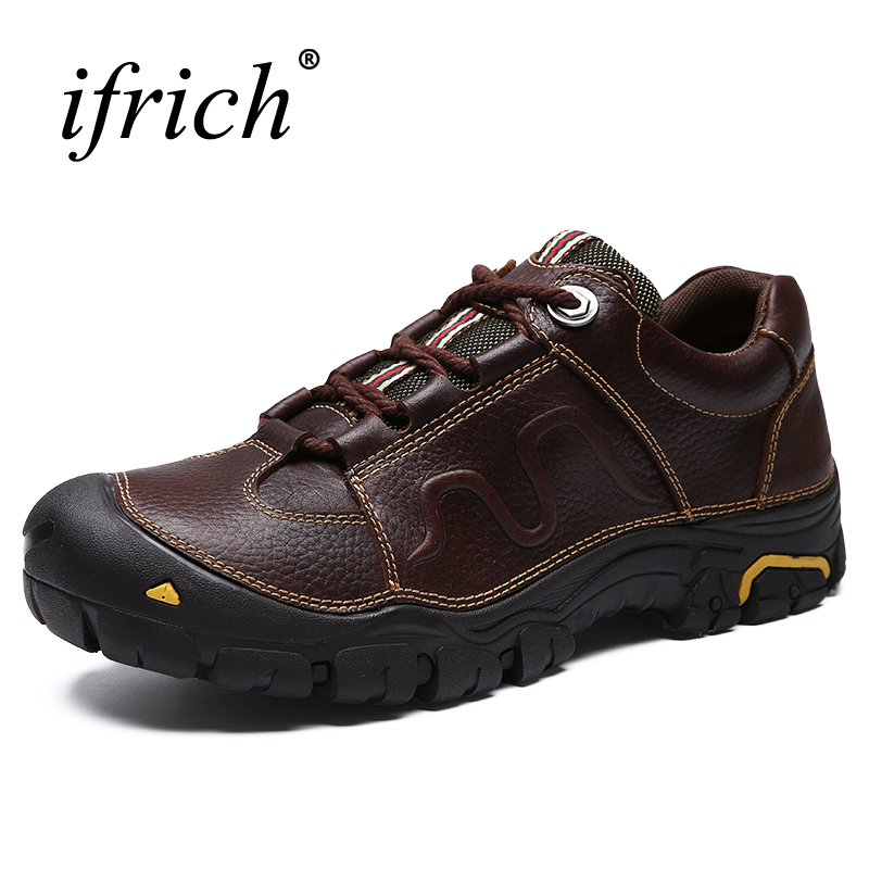 New Cool Mens Shoes Genuine Leather Driving Shoe Black Brown Mens Outdoor Walking Sneakers Autumn Winter Men Casual Shoe Leather claladoudou spring autumn children sneakers genuine leather red girls running shoes waterproof comfortable boys walking shoe kid