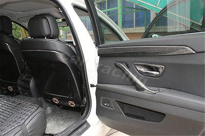 4 Pçs/set Fibra De Carbono Maçaneta Catch Cup Bacia Covers Fit Para BMW série 5 F10 Sedan 2011 2015 Estilo do carro - 3