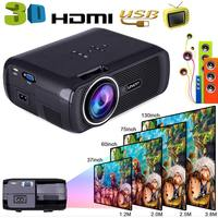 Portable Wifi Projectors 1080P Android4.4 HD 7000Lumens Movie Media Player Home Theater Projector For Video Game TV 8 D