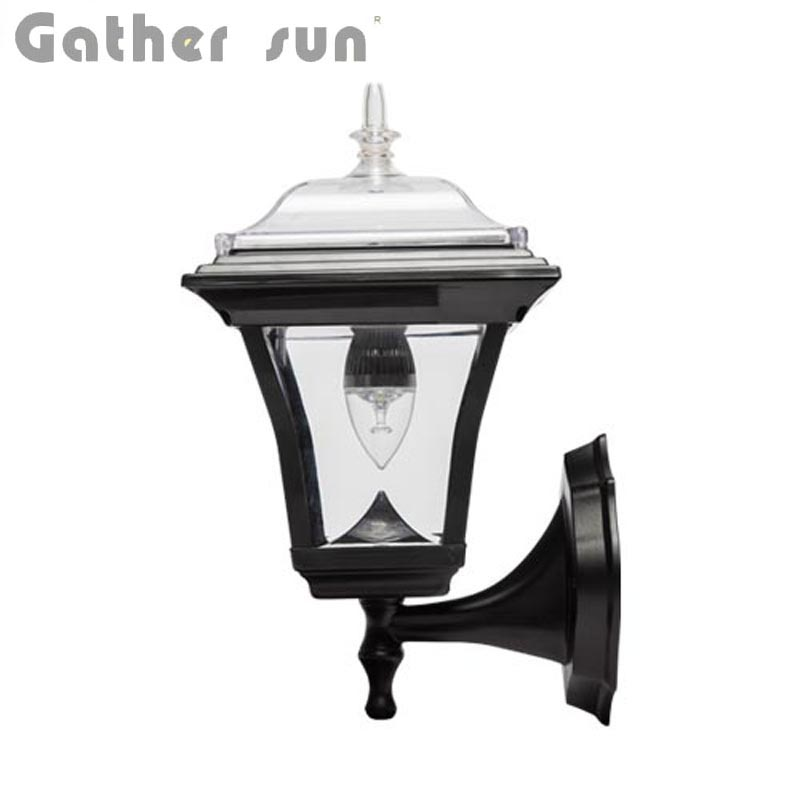 LED Solar Wall Lamp Outdoor 50LUM PIR Light LED Bulb Solar Power Panel PS Body IP44 Waterproof High Quality For House Lighting
