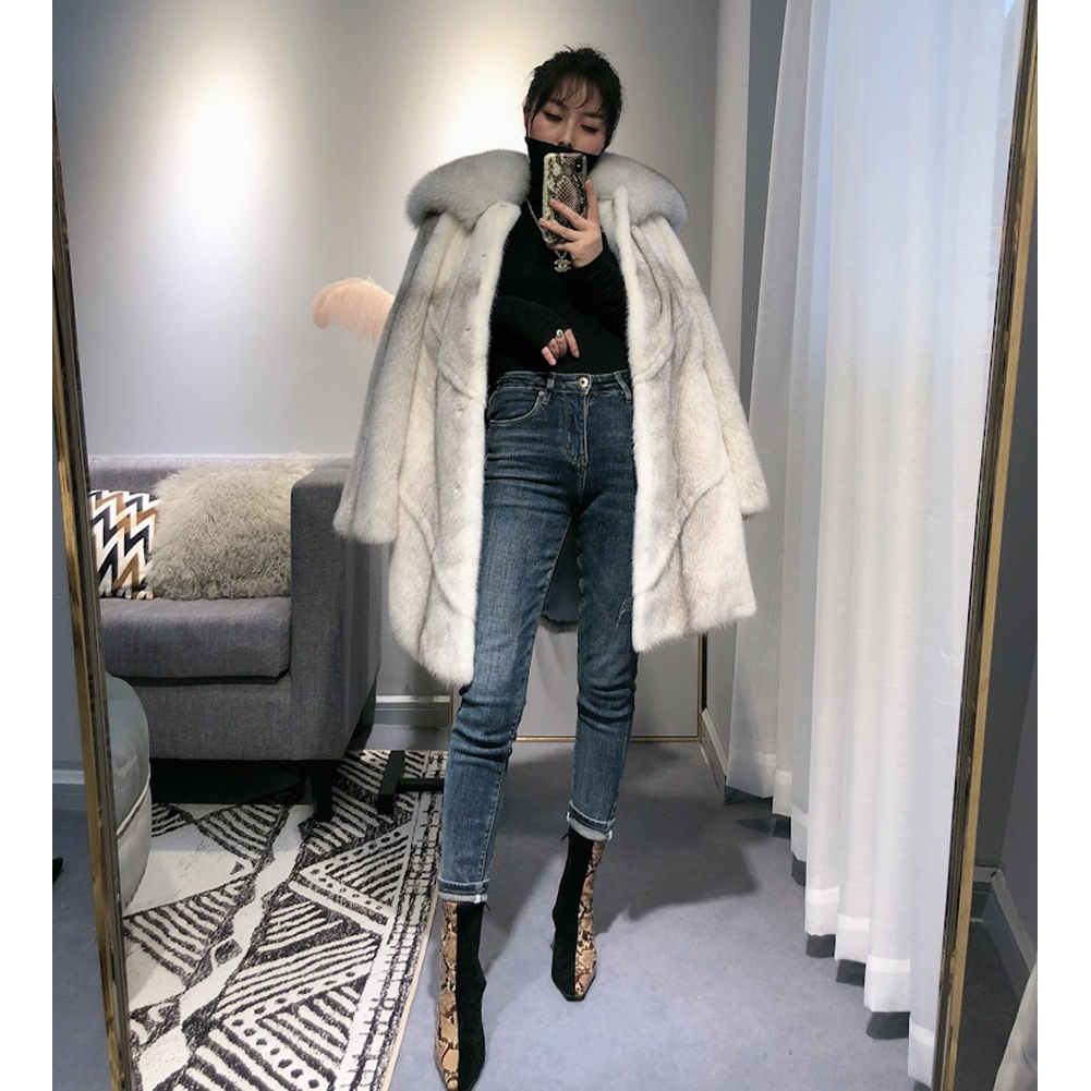 Women's Import Whole Leather Mink Fur Coat Women's Long Fur Coat Women's Autumn And Winter New Warm Coat