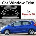 Хит продаж  яркая серебристая отделка окна автомобиля для Honda  нержавеющая сталь  Стайлинг автомобиля  декоративные полоски