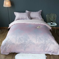 Pink Silk Bedding Sets Bedclothes Sheets Full Queen King Size 1000TC Woven Adult S Bedroom Decor