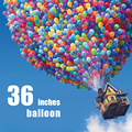 Colorful blow molding 36 inch balloon latex decorative inflatable toys for children aged 3