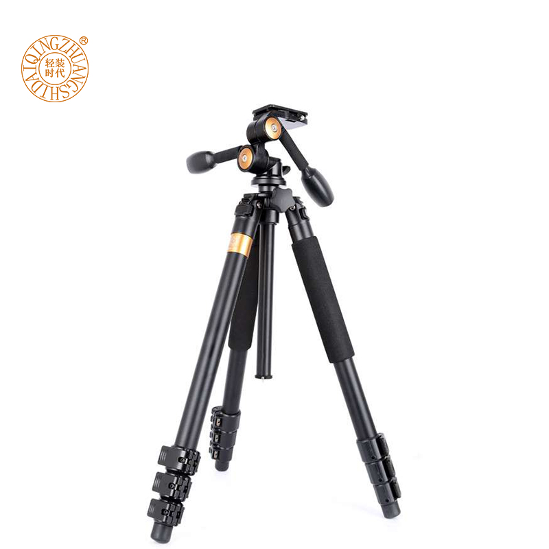 QZSD Q620 tripod 72 inch 39.7lb load aluminum professional camera tripod 3 way swivel handheld panhead video hand heavy tripod цены