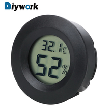 DIYWORK LCD Digital Mini Temperature Humidity Meter Detector Thermometer Hygrometer Fridge Freezer Tester high accuracy handheld industrial thermometer hygrometer meter tm730 digital wet bulb and dew point humidity tester instrument