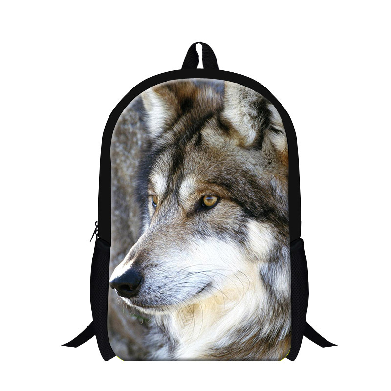 2017 Wolf design cool backpack for boys,fashion teen girls animal back packs for children school bookbags travel bag mochilas