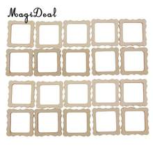 MagiDeal 20 Pieces Wood Photo Frame Shapes Craft DIY Embellishment Kids Creative Toys(China)