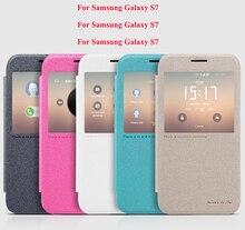 Для Samsung Galaxy S7 чехол Nillkin Марка Искра серии дизайн окна искусственная кожа флип чехол для Samsung Galaxy S7 крышка