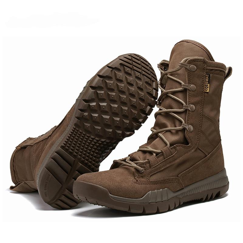 Aus Dem Ausland Importiert Mode Im Freien Armee Stiefel Männer Mikrofaser Tuch Military Boots Tactical Combat Stiefel 4 Jahreszeiten Wüste Stiefel Größe 38-45 Xx-413 Feines Handwerk