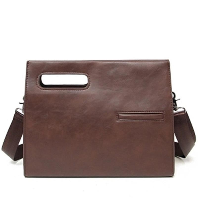 Designer Men Briefcase Crazy Horse Leather Business Office Handbags Computer Laptop Bags Solid Zipper Vintage Messenger Bag L157
