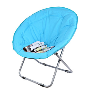 Image 4 - Large Size Moon Folding Chair Portable Couch Lazy Chair for Adult Soft Oxford Cloth Cushion Seat Office Chair Strong Bearing