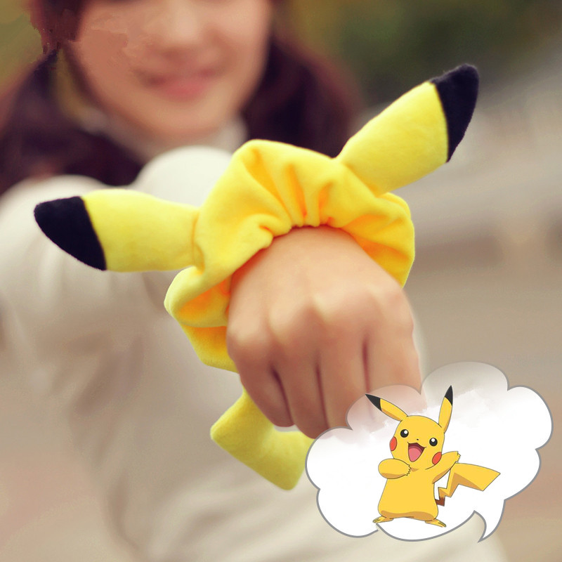New Anime Pocket Monster Kawaii Pikachu Pokemon Cosplay Accessories Cotton Women Girls Headband Hair Clip Headwear Hair Band