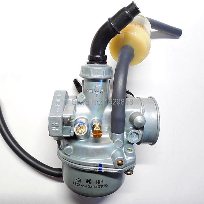 Motorfiets 19 mm koolhydraten Keihin carburateur PZ19 voor 50 ~ 70 ~ 90cc ATV buggy kart of horizontale motor (CNC-bewerking, goede kwaliteit)
