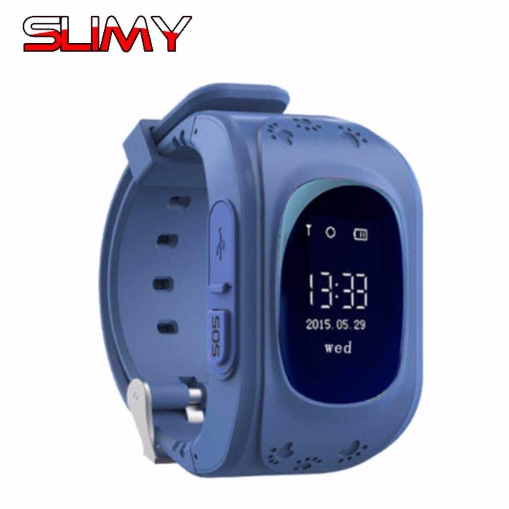 Slimy Q50 GPS Kids Watch Hours Clock Baby Smart Watch for Children SOS Call Location Finder