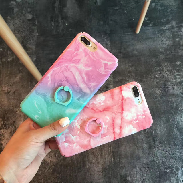 info for a5468 3e2f2 US $3.88 |Pink Blue Marble Colorful Ring Grip Phone Case For iPhone 6 6s 8  7 Plus For iphone 7 case Ultra Thin Matte Hard PC Fundas Coque-in Fitted ...