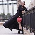 2017 Mujeres Largas de Trinchera Abrigo de Otoño Primavera Plus Size XXL Cazadora Delgado Abrigo Rompevientos Outwear Casacos Femininos
