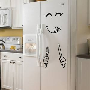 Wall-Sticker Decoration Art-Poster Face-Fridge Food-Furniture Smile-Face Happy PVC