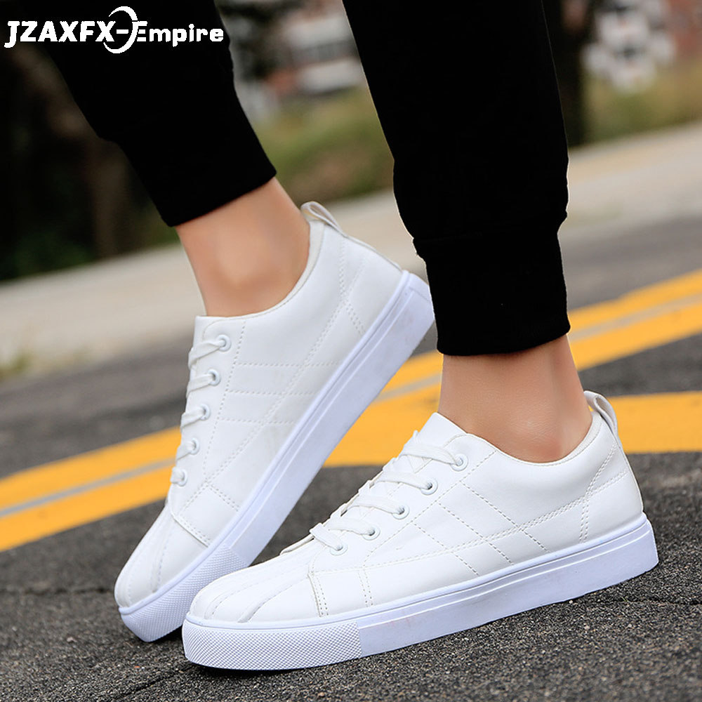 2018 New Men White Casual Shoes lace-up breathable tenis masculino adulto Male Fashion Sneakers chaussure homme
