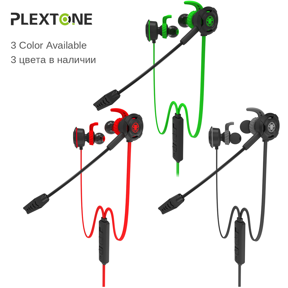 G30 Wired Gaming Earphone with Adjustable Mic for Cellphone PS4 PC Computer  Gamer Headset with Portable Earphone Bag By Plextone-in Phone Earphones ...