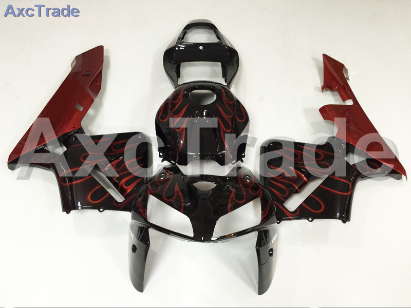 Motorcycle Fairings Kits For Honda CBR600RR CBR600 CBR 600 RR 2005 2006 F5 ABS Plastic Injection Fairing Kit Bodywork Black Red custom made motorcycle fairing kit for honda cbr600rr cbr600 cbr 600 rr 2007 2008 f5 abs fairings kits fairing kit bodywork c99