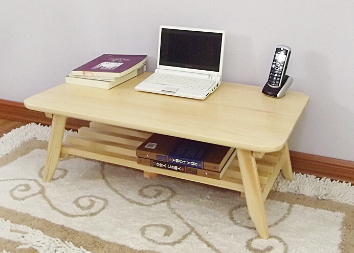 Modern Sofa Table Folding Leg Rectangle 75cm Living Room Furniture Solid Wood Anese Center 2 Colors Wooden Laptop In Coffee Tables From