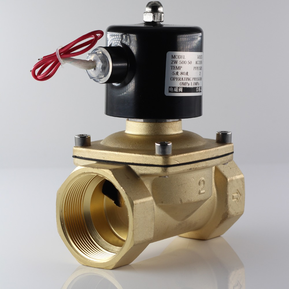 220VAC 12VDC 24VDC Iron Shell Coil Normally Closed Solenoid Valve For Water,oil,air,G1/4