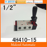 Free shiping 4H410 15 valve hand valve 1/2 pneumatic directional valve two five way switch manual valve mechanical