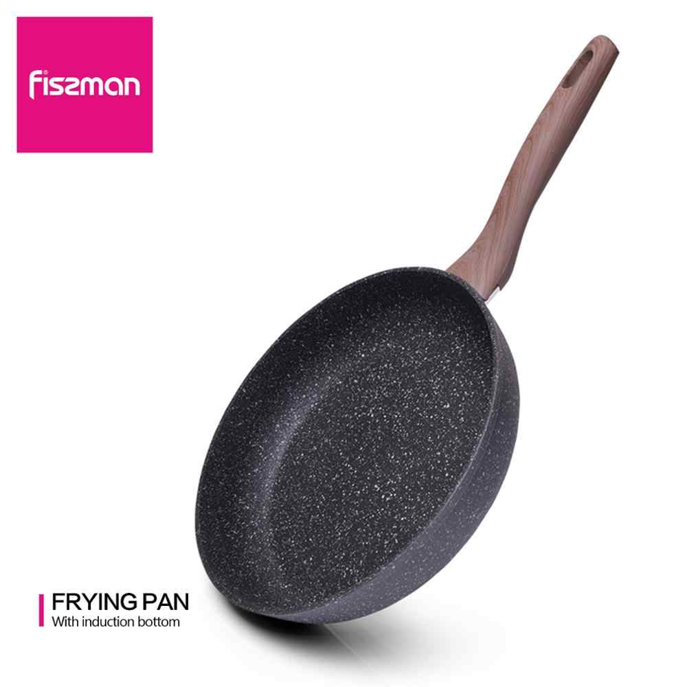 FISSMAN 20-28CM poêle revêtement marbre antiadhésif Aluminium forgé-pour cuisinière à Induction gaz
