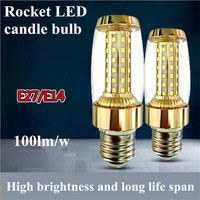 2pcs Lot Rocket LED Candle Light E27 12W LED Lamp AC220v 230v 240v 50 60hz 1200lm