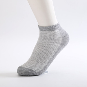 Image 5 - 10 Pairs/lot Summer Men Socks Cotton Casual Antibacterial Breathable Mesh thin section solid color Men socks Male New Short Sock
