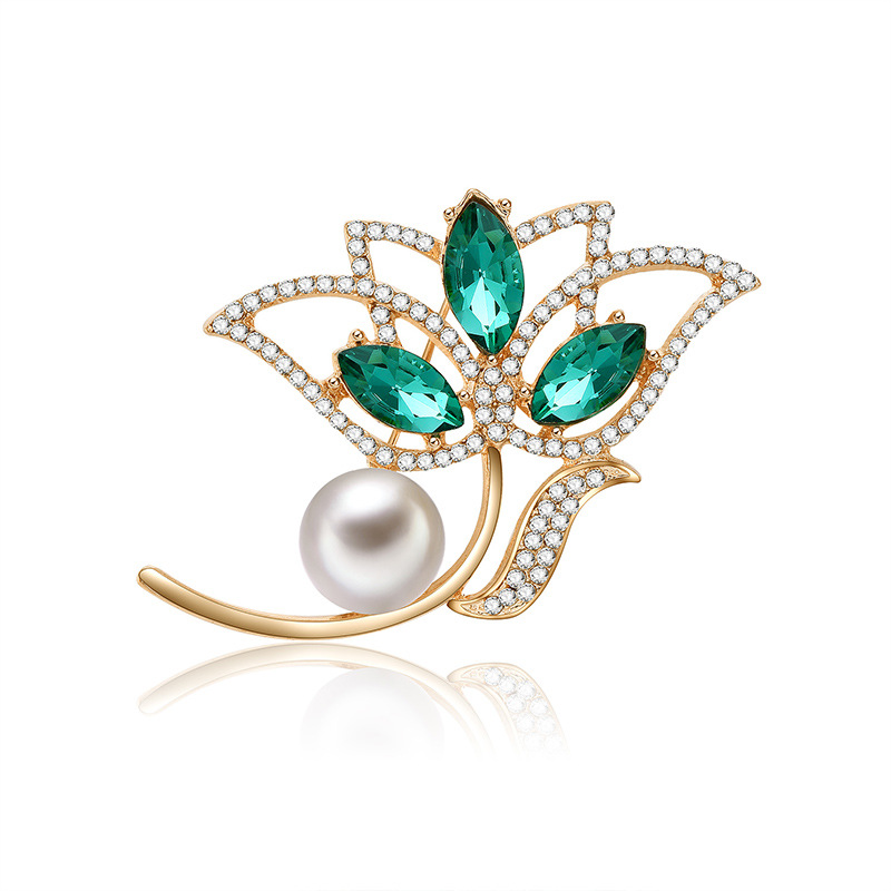 2018 New Fashion Wild Women's Brooch Set Pearl Zircon Personality Fashion Clothing Accessories Popular Gifts Souvenir