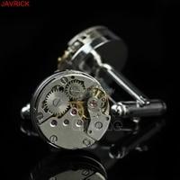 1 Paar Wereldwijd Mode Stijlvolle Steampunk Gear Horloge Manchetknopen Zinklegering Suits Bruiloft drop verzending groothandel Snel Schip