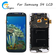 Фотография ET-Super10PCS For Samsung Galaxy S4 i9500 i9505 i337 LCDWith Frame Touch Display screen Digitizer Assembly For Samsung S4 screen