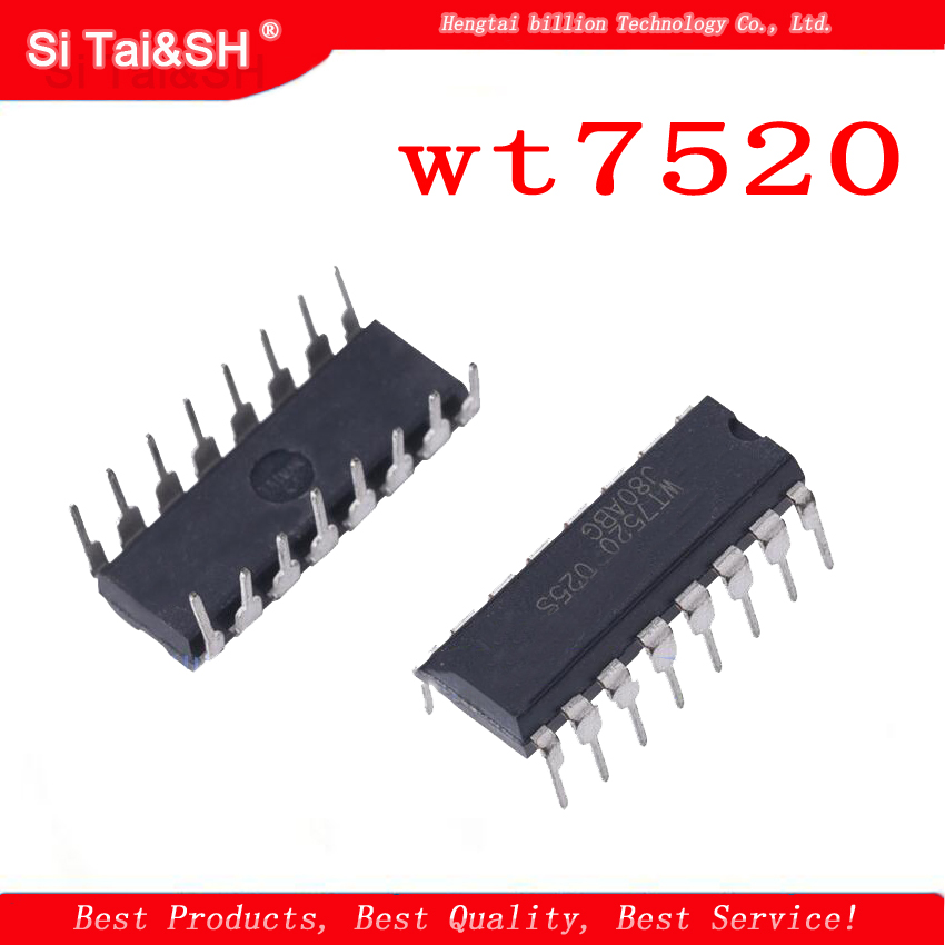 5pcs WT7520 DIP-16P New Power Management IC