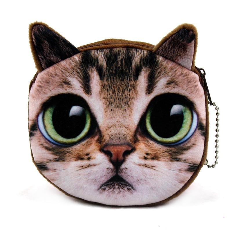Brand New Women Small font b Wallet b font 2017 Dollar Price Cute Cat Face Zipper