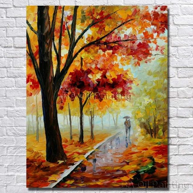 New Mooie Schilderijen op Canvas Woonkamer Muur Foto Handgeschilderde @MH95