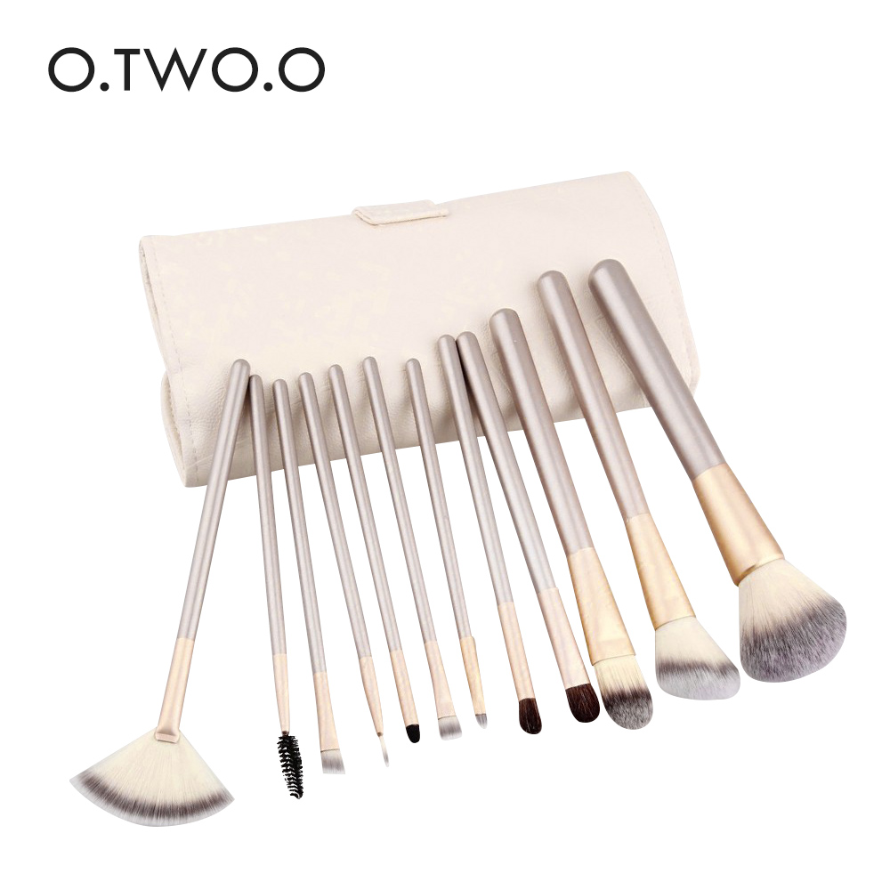 O.TWO.O 12 pcs Makeup Brushes Professional Synthetic Cosmetic Makeup Brush Foundation Eyeshadow Eyeliner Brushing Brush Kits 8pcs makeup brushes cosmetics eyeshadow eyeliner brush kit 15 color concealer facial care camouflage makeup palette sponge puff