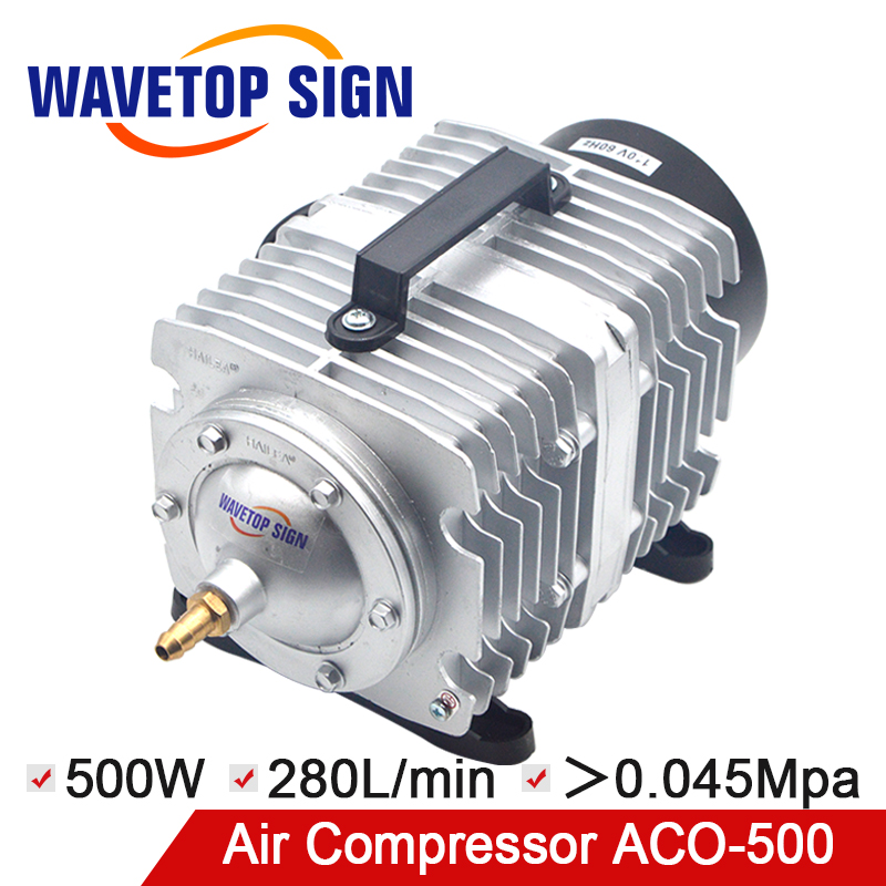 HAILEA 500W Air Compressor Electrical Magnetic Air Pump for CO2 Laser Engraving Cutting Machine ACO-500
