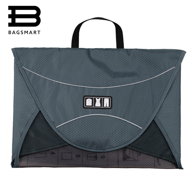 BAGSMART 17'' Durable Men's Travel Bags With Handle For 1-5pcs Shirts Luggage Packing Cube Organize Your Suitcase Case