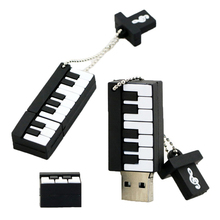 Retail Genuine Silicone Piano USB Flash Drive Thumb Pen Drive Memory Stick Flash Disk 2GB 4GB 8GB 16GB 32GB 64GB Free Shipping