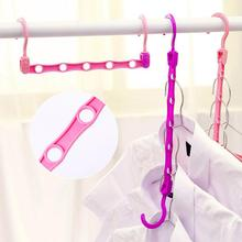 WBBOOMING Multi-functional Clothes Hanger Home Rack Kid Clothes Adjustable Clothes Hook Magic Space Saver Device random color