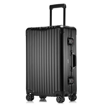 Aluminum Rod Box Mute Universal wheel Male Korean version 20 business metal suitcase collision-resistant female 29 inch CD50