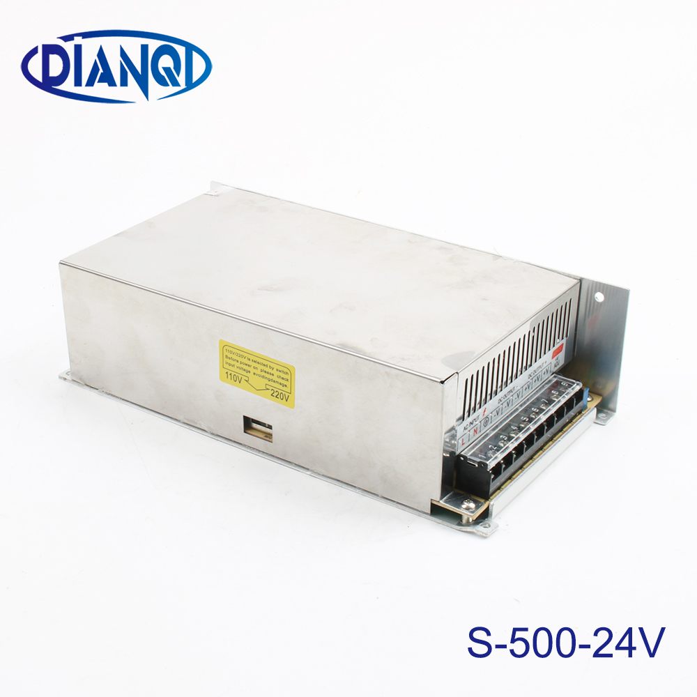 led power supply switch500W 24v 20A ac dc converter input 220v S 500w 24v variable dc voltage regulator led driver,S 500 24