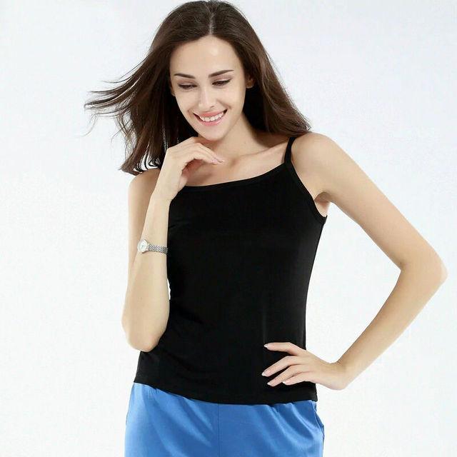 100% pura SEDA REAL bralet do corpo básico mulheres sólidos simples Camisolas de alta qualidade Novo 2015 venda top senhora do escritório