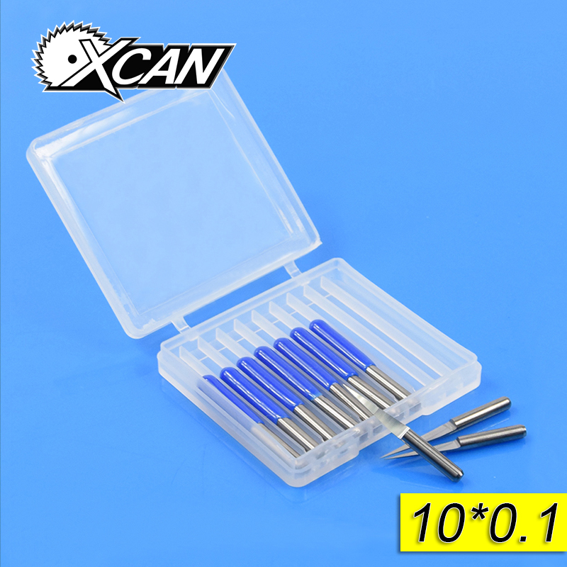 Free Shipping10Pcs 3.175mm Tungsten Steel V Shape Carbide PCB Engraving Bits CNC Router Tool 10 Degree 0.1mm Machine Accessories hot sale tungsten steel 10pcs 3 175mm carbide pcb engraving bits cnc router tool 30 degree 0 1mm