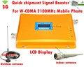 W-CDMA 3G reforço de Sinal de LCD! GSM 2100 Amplificador de potência Do Telefone Móvel 3G GSM Repetidor de Sinal Celular Impulsionador Com 3G antena