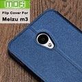Meizu m3s tampa flip couro mofi original meizu m3 case 5.0 3g m3note mini tampa de metal de volta habitação silicone meizu 16 gb ouro